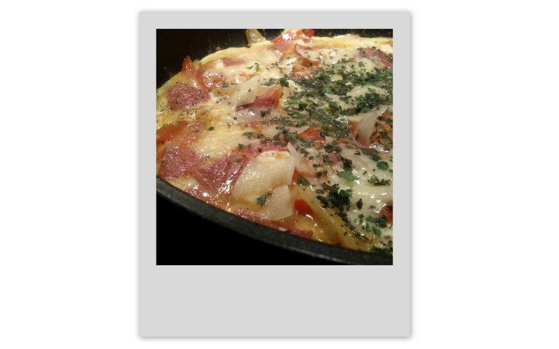 omelett med italiensk touch